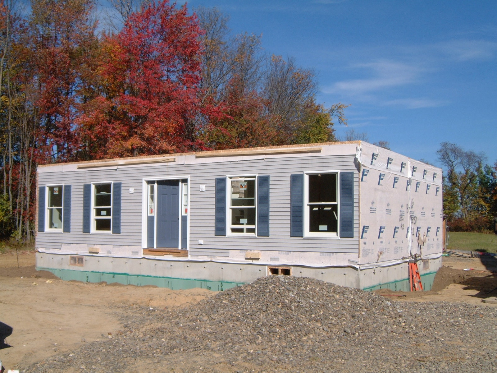 first story boxes of a two story modular home