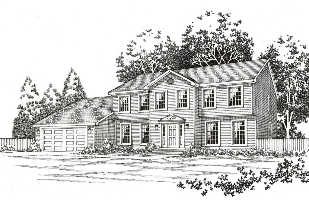 The Hampton Colonial Plan