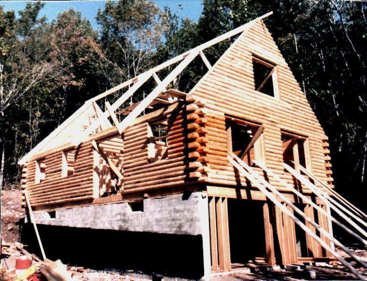 log home roof framing